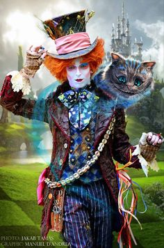 """Me as Tarrant Hightopp The Mad Hatter from """"Alice in Wonderland"""",Tim Burton. Mad Hatter Cosplay, Mad Hatter Costumes, Mad Hatter Party, Mad Hatter Tea, Mad Hatter Makeup, Mad Hatters, The Hatter, Alice In Wonderland Drawings, Alice In Wonderland Costume"""