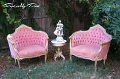 Darling pink chair set to rent.