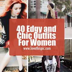 Ladies if you want to add a little edge to your style, then we have some great ideas for you to check out. fashion style stylish girl fashion womens fashion fashion outfits
