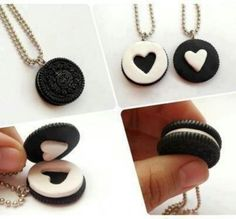 Oreo 2 piece love necklace