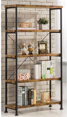 My favorite #farmhouse #bookcase! We have a short one in our kitchen for all our dishes. Laurel Foundry Modern Farmhouse Epineux Etagere Bookcase