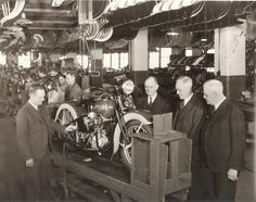 vintage everyday: In the Harley Davidson factory