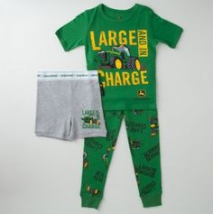 Toddler Large and In Charge John Deere 3pc PJ Set