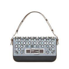 Fendi Sequined Baguette Shoulder Bag - Color-Block Bag - ShopBAZAAR