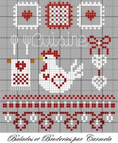 chicken, kitchen, free cross stitch  https://www.etsy.com/shop/InstantCrossStitch