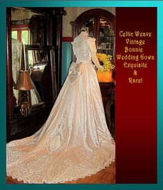 Exquisite Celtic Weave Bonnie Vintage Wedding Gown by whiteriver51, $590.00