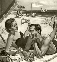 The message is that if you want to have a fun time on the beach, you must smoke Pall Mall cigarettes.