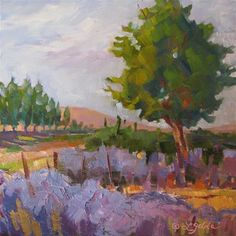 """Daily Paintworks - """"Just Down the Road"""" by Laura Gable"""