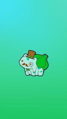 ↑↑TAP AND GET THE FREE APP! Art Creative Cartoon Pokemon Minamalistic Green Funny HD iPhone Wallpaper