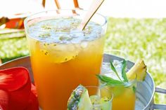 Non Alcoholic Punch recipe australia Summer punch Summer Punch Recipes, Easy Punch Recipes, Alcoholic Punch Recipes, Alcoholic Drinks, Beverages, Drink Recipes, Fruit Drinks, Party Recipes, Healthy Drinks