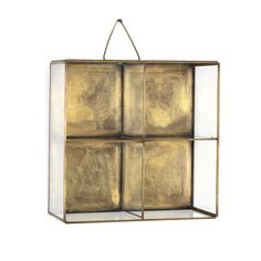 Found it at Wayfair - Voyager Glass and Brass Wall Shelf