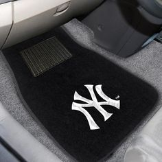 Protect the interior of your vehicle with New York Yankees Embroidered Car Mats. Universal fit makes it ideal for cars, trucks, SUVs, and RVs. Embroidered team logo that will not peel or fade. Yankees Gear, Baseball Gear, New York Yankees Baseball, Car Mats, Car Floor Mats, Full Comforter Sets, Bed Sets, Bedding Sets, Customize Your Car