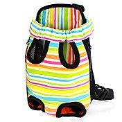 Colorful Stripe Pattern Front Backpack Bag Pe... – USD $ 16.24