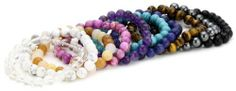 Genuine Stone Bead Stretch Bracelets (8mm ), Set of 10 Amazon Curated Collection, http://www.amazon.com/dp/B006GZOYD2/ref=cm_sw_r_pi_dp_mtdGqb0S10BAN