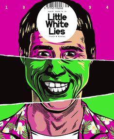 Little White Lies es una revista de cine alternativa con un diseño cuidado hasta el extremo, y que hace un uso intenso de las ilustraciones. En esta portad