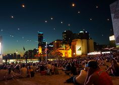 melbourne...fed square at night. i love this city.
