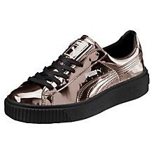 Zapatos deportivos con plataforma Basket, metalizados, para mujer