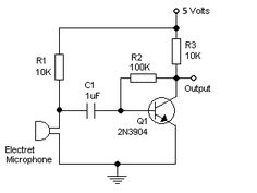 Use a PNP Transistor with an Electret Microphone