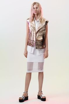 McQ - Spring/Summer 2015 Ready-To-Wear - Need platform wedge sandals with this outfit though...
