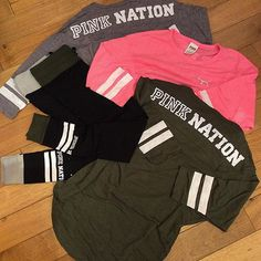 pinterest ☞ qveendaiisy Victoria Secret Outfits, Victoria Secrets, Pink Wardrobe, Stylish Outfits, Fashion Outfits, Pink Nation, Cute Tops, Dress Me Up, Vs Pink