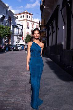 Fashion Evening Gowns Formal Dresses for Girl Blue Gown – inloveshe Dresses Elegant, Formal Evening Dresses, Sexy Dresses, Beautiful Dresses, Dress Outfits, Prom Dresses, Fashion Outfits, Pretty Dresses, Summer Dresses
