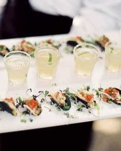 mini tacos and margaritas