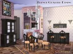 Part of the French Quarter Series: The Dining  Found in TSR Category 'Sims 4 Dining Room Sets'