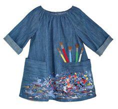 Denim Artist Smock Dress
