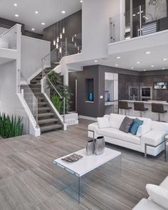 This modern interior design offers a similar feel as it manages to bring the freshness of nature to your home