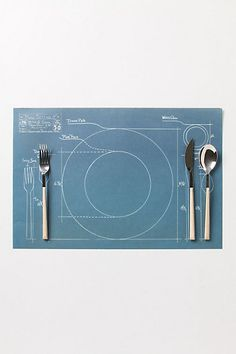 Anthropologie beat me to it! I had plans to make a cyanotype of where dishes and silverware go for my kid when he is older and learning to set the table.