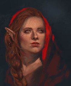 Dalish fire kissed Elf Dragon Age Just gorgeous