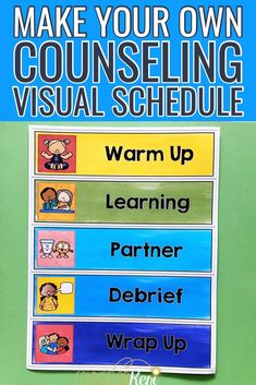 Counseling Visual Schedules for Classroom Guidance and Group Routines Group Counseling, School Counseling, Elementary School Counselor, Elementary Schools, School Social Work, Guidance Lessons, Visual Schedules, School Psychology, Behavior Management