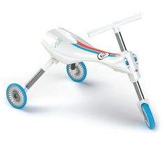 Scuttlebug Zoom in White/Blue - Folding Toddler Trike Free Samples Uk, Freebies Uk, Plastic Forks, Uk Deals, Ride On Toys, Tricycle, Cool Kids, Kids Toys, Party Supplies