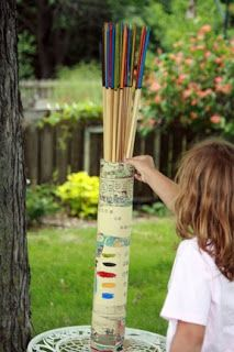 courage to create: yard games ~ Oversized Pickup Sticks