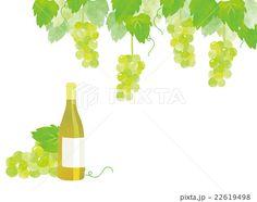 白ワインとぶどう イラスト