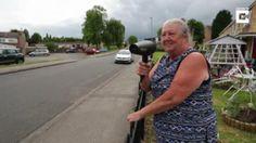 Hilarious Grandma Trolls Speeders With Hairdryer