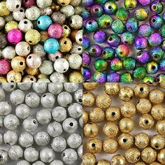 #Acrylic #stardust metallic glitter #beads - choose 4mm, 6mm, 8mm & 10mm,  View more on the LINK: 	http://www.zeppy.io/product/gb/2/190704918590/