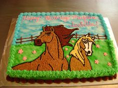 Spirit - Spirit and Rain from the movie Spirit Of The Cimarron. I think Aubrianna would love this cake!