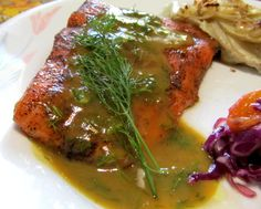 Brown Sugar Roasted Salmon With Maple-Mustard-Dill Sauce Recipe - Food.com