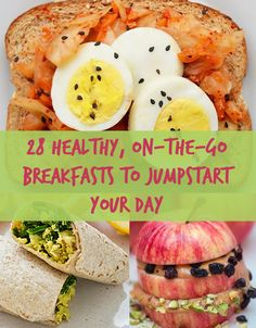 these healthy breakfasts are easy to make & take on the go