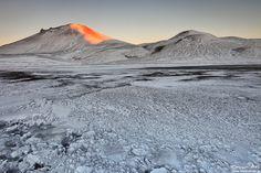 First Morning Light, Landmannalaugar in Winter.