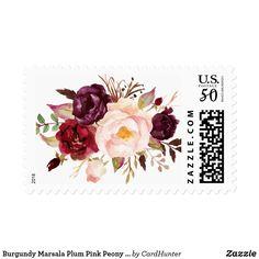Burgundy Marsala Plum Pink Peony Rustic Flowers