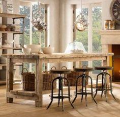 Mesas Rusticas de Madera | Decorar tu casa es facilisimo.com