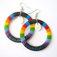 The perfect gift! Beautiful one-of-a-kind porcupine quill hoops by Lonna Jackson. Shop our options now >> http://shop.beyondbuckskin.com/category/new