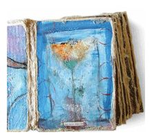 Free Handmade Book Techniques: Collage Board Book by Katie Kendrick.