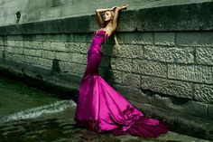 Extravagance purple dress