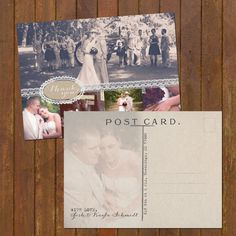 Wedding Thank You Post Cards - Burlap and Lace 6 Photos