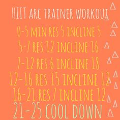 Arc Trainer HIIT workout