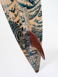Single fin surfboard art