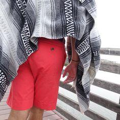 Daniel Hughes Huntington Beach Vermillion Men's Poplin Short # 206 - $68.00